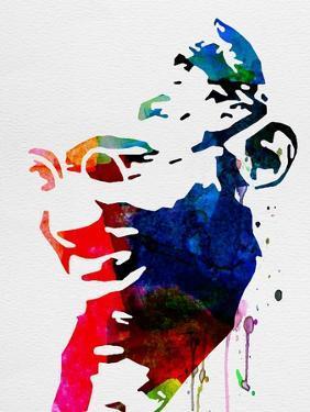 Mahatma Gandhi Watercolor by Lora Feldman