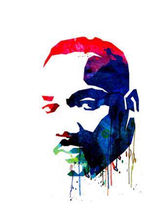 Martin Luther King, Jr. Watercolor by Lora Feldman