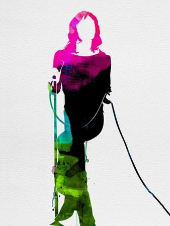 Mick Watercolor by Lora Feldman
