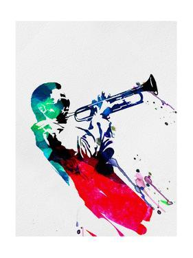 Miles Watercolor by Lora Feldman