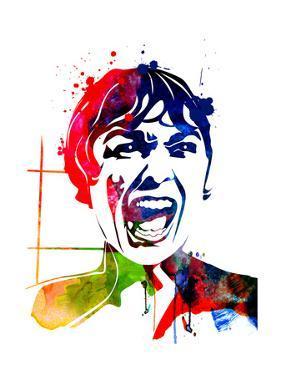 Psycho Watercolor by Lora Feldman