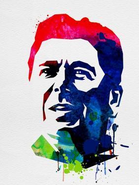 Ronald Reagan Watercolor by Lora Feldman
