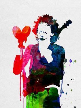 Santana Watercolor by Lora Feldman