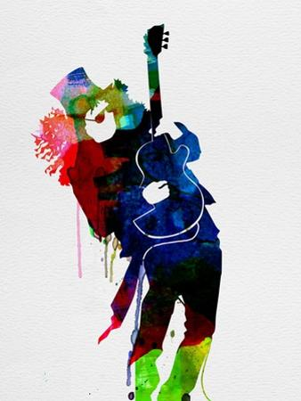 Slash Watercolor by Lora Feldman