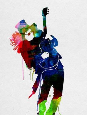 Slash Watercolor by Lora Feldman