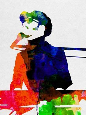Stevie Watercolor by Lora Feldman