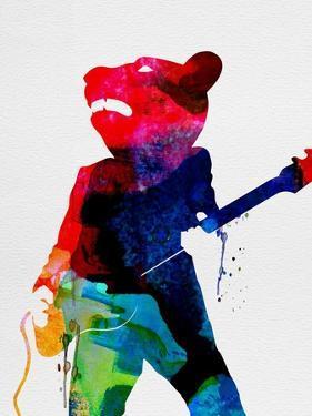 Teddybear Watercolor by Lora Feldman