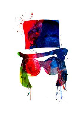 Willy Watercolor by Lora Feldman