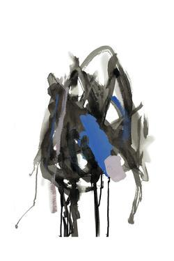 Gestural Brush, Blue by Lora Gold