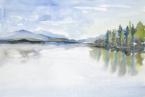Lakefront Watercolor by Lora Gold