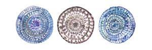 Watercolor Mandalas 1 by Lora Gold