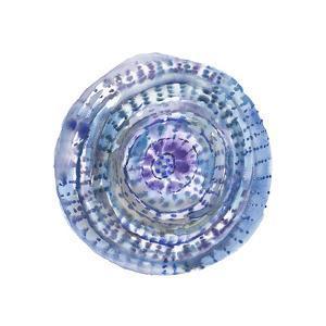 Watery Blue Mandala 2 by Lora Gold