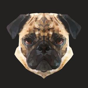 Pug by Lora Kroll