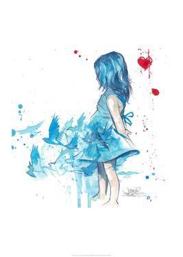 Blue Girl by Lora Zombie