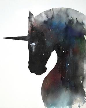 Dark Unicorn Full of Infinite Space by Lora Zombie