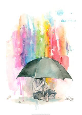 Umbrella Boy by Lora Zombie
