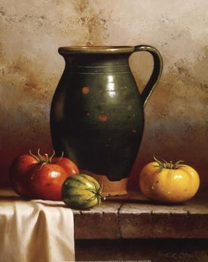 Green Pitcher, Heirlooms & Cloth by Loran Speck
