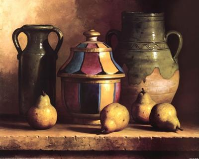 Moroccan Pottery with Pears by Loran Speck