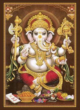 Lord Ganesha - Hindu Elephant Headed Deity - God of Wisdom, Knowledge and New Beginnings