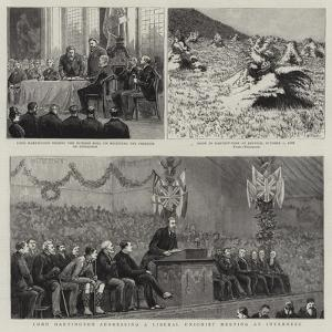 Lord Hartington Addressing a Liberal Unionist Meeting at Inverness