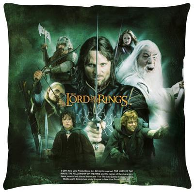 Lord Of The Rings - Hero Group Throw Pillow