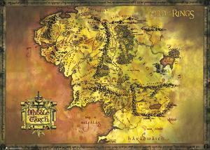 Lord Of The Rings- Middle Earth Map