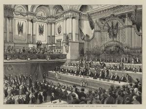 Lord Salisbury at Manchester, the Banquet at the Free Trade Hall