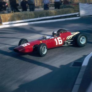 Lorenzo Bandini Driving a Ferrari 246, in the Monaco Grand Prix, Monte Carlo, 1966