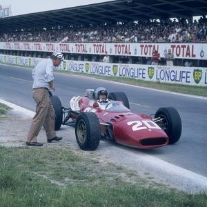 Lorenzo Bandini in a Ferrari 312, French Grand Prix, Reims, France, 1966