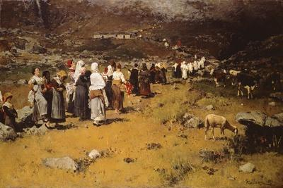 Procession of Fontainemore, 1882