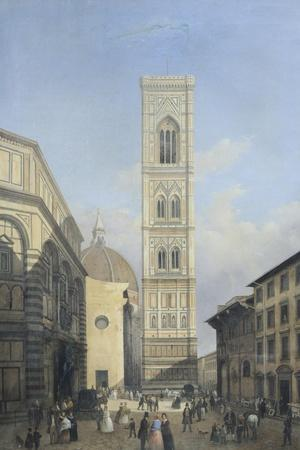 View of the Bell Tower of the Cathedral in Florence