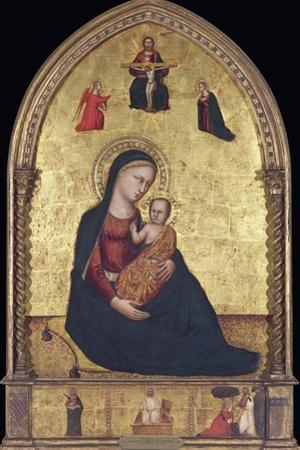 Madonna and Child with the Holy Trinity and the Annunciation by Lorenzo Di Bicci