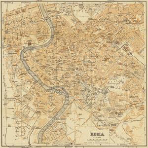 Mapa Di Roma, 1898 by Lorenzo Fiore