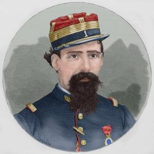 Lorenzo Latorre (1844-1916). Portrait. Coloured. Uruguay