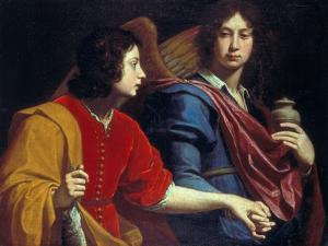 The Archangel Raphael with Tobias, 1740s by Lorenzo Lippi