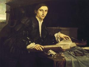 Portrait of a Young Gentleman in His Studio, 1526 by Lorenzo Lotto