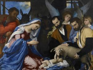 The Adoration of the Shepherds by Lorenzo Lotto