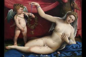 Venus and Cupid by Lorenzo Lotto