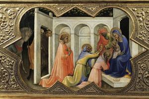 Adoration of Magi, Detail of Predella of Coronation of Virgin, 1414 by Lorenzo Monaco
