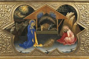 Depiction of Nativity, Detail of Predella of Coronation of Virgin, 1414 by Lorenzo Monaco