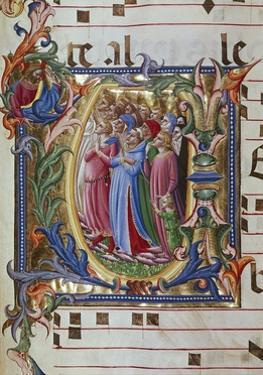 Initial Letter of Choral, Miniature by Lorenzo Monaco