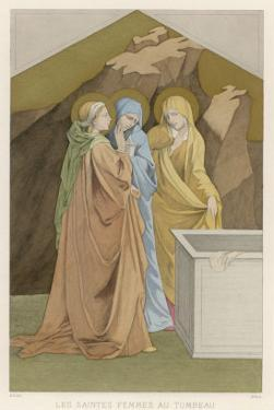 Mary Magdalen Mary the Mother of James and Salome Come with Spices to Anoint Jesus's Body by Lorenzo Monaco