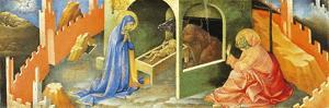 Nativity of Jesus, Section of Predella by Lorenzo Monaco