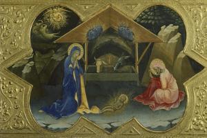 Nativity, Scene from Predella of Coronation of Virgin by Lorenzo Monaco