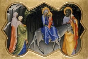 The Flight into Egypt, C.1405 by Lorenzo Monaco