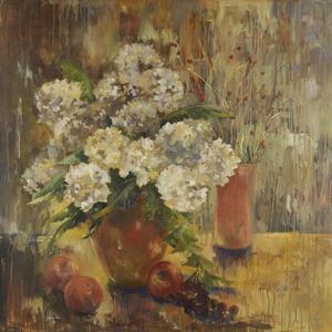White Hydrangea by Lorrie Lane