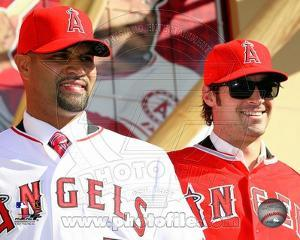 Los Angeles Angels - Albert Pujols, C.J. Wilson Photo