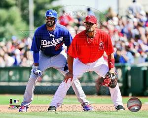 Los Angeles Angels, Los Angeles Dodgers - Albert Pujols, Matt Kemp Photo
