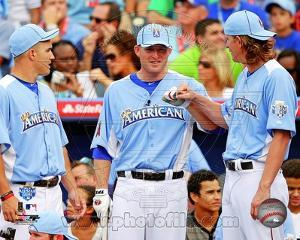 Los Angeles Angels - Mark Trumbo, Jered Weaver, Mike Trout Photo
