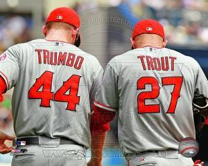 Los Angeles Angels - Mark Trumbo, Mike Trout Photo